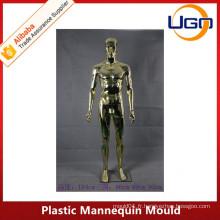 Mâle chromé mannequin en plastique moule plein corps avec tête abstrait