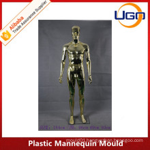 colorful male chrome plastic mannequin mould for hot sale