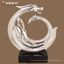 rose gold high quality home hotel decor abstract resin sculpture
