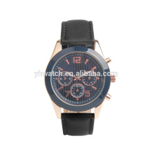 Мужчины люксовый бренд автоматические механические черный кожаный спортивные часы