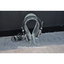 Fashion Popular High Clear Acrylic HeadPhone Display Holder