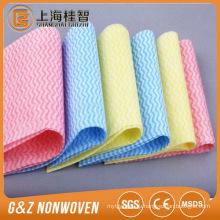 Волны закрутили кружева Non сплетенные ткани чистки nonwoven рулонов ткани для влажных wipes