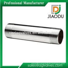 1/2 inch Male DN15 100mm 200mm Chrome Plated NPT Thread Nipple for connecting extending pipes forged brass pipe extension nipple
