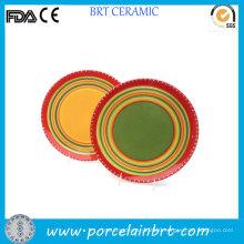 Colorful Rainbow Circle Round Porcelain Dish