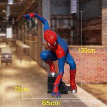 Hot sale fiberglass resin spiderman sculpture