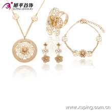 63737 Xuping fashion élégant plaqué or bijoux ensembles de conception plus récente