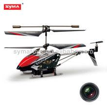 Helicóptero del rc de SYMA S107C con el helicóptero teledirigido s107 de la cámara
