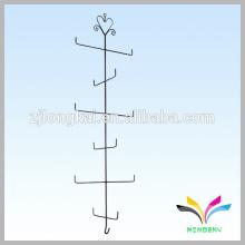 negro clásico 13 perchas exhibición del gancho del alambre del metal para la suspensión de ropa