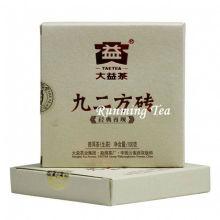 "2011 Dayi Fábrica ""Jiu Er Fang Zhuan"" Raw Pu Er ladrillo, 100 g / ladrillo"