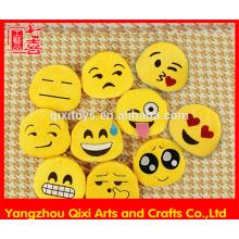 Promotional cheap plush emoji coin purse small size emoji change purse cute emoticon emoji bag