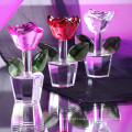 Flor barata personalizada de vidro de cristal para lembranças