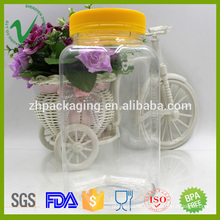 Transparent top quality empty plastic jars food grade with different size