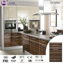 Moderno diseño de gabinete de cocina brillante