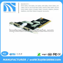Bonne qualité RS-232 RS232 DB9 9Pin Serial Port à PCI I / O Controller Card Adapter