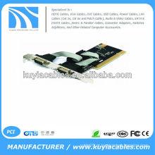 Boa Qualidade Portas RS232 DB9 9Pin serial dupla RS-232 para PCI I / O adaptador de cartão de controlador