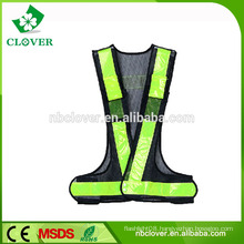 Polyester and mesh fabric material high visibility police safety reflective vest
