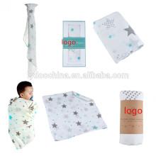 musselina de bebê swaddle com tecido 100% algodão