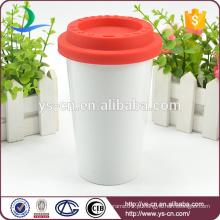 2015 Caneca de café cerâmica da venda quente com tampa