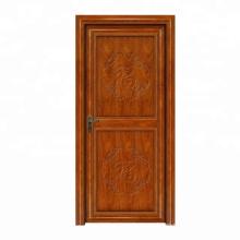 WANJIA Aluminum interior doors casement  doors design with wood color Bedroom Door