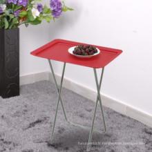 Compagnie pliable Design pliable Table à fruits Bureau Couleur Rouge Bleu Blanc Table pliante en plastique