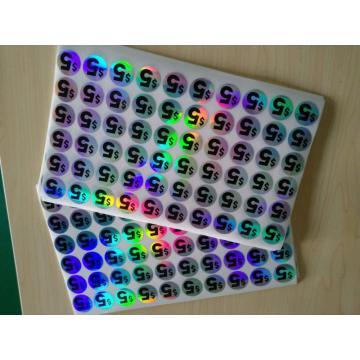 Laser Cut Number Adhesive Round Hologram Sticker