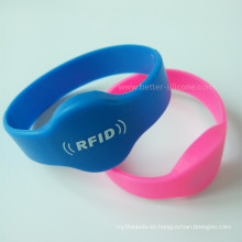Pulsera RFID de silicona I-Code2 de 13,56 MHz con chip Hf para control de acceso