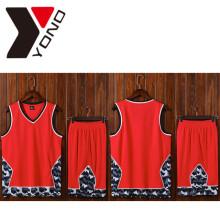 100% Полиэстер Оптовая Мужчины Спорт Рубашка Футбол Джерси Пользовательские Печать Баскетбол Одежда