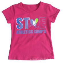 Ropa de camiseta hermosa niña en niños Ropa de ropa infantil con impresión Sgt-082