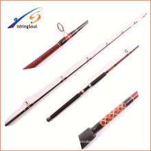 Los aparejos de pesca de la fabricación de GMR093 China traban las barras personalizadas del barco de la pesca del carbono