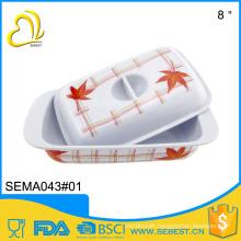 top selling hotel melamine dinnerware square cover plastic butter dish