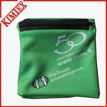 Promocional Poliéster impressão Wallet Pocket Wristband