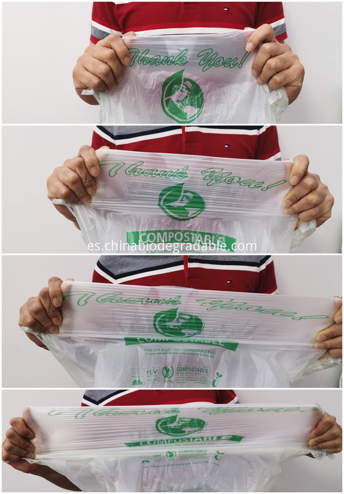 PLA Disposable Shopping Bag