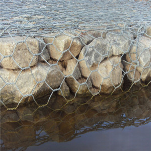 Hot-dip galvanized hexagon wire mesh tenunan Gabion Peti