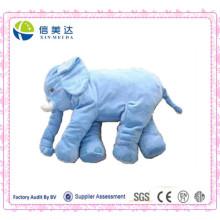 Neue Ankunfts-Plüsch-blaues Elefant-großes Kissen