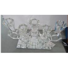 Suporte de vela de cristal com base de Mirro para a decoração Home