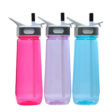 650ML Plastic Sports Bottle With Straw, Water Bottle Joyshaker With Straw, Plastic Joyshaker Water Bottle With Straw