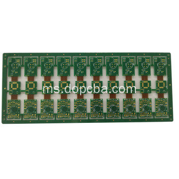 rendaman emas 1OZ Rigid flex pcb board