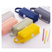 Wholesale custom color logo factory price pen bags zipper students canvas pencil bag