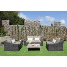 Nouveau Ensemble de canapé en rotin synthétique élégant pour jardin extérieur ou salon Alu Frame Wicker Fiber