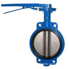 Lever operation butterfly valve