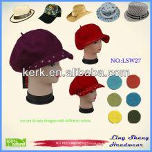 LSW27 Ningbo Lingshang Moda inverno atacado malha chapéu de inverno de lã
