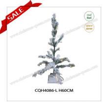 Décoration de Noël en gros bon marché Vert et Snowy Christmas Tree