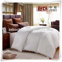 High Quality Hilton Hotel Used 400GSM Microfiber Filling White Silk Quilt