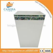 Latest Design Paua shell handmade waste bin