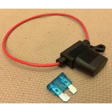в Он-Лайн Стандартный автомобиль лезвие предохранитель держатель Водонепроницаемый кабель 18awg до 15А для автомобиля/лодки