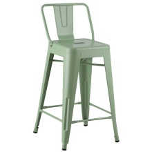 Tolix Bar Metal Frame Dining Chair With Arm