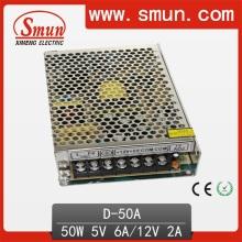 Fuente de alimentación de conmutación de doble salida de 50W 5V 12V
