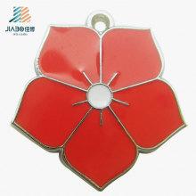 Pingentes feitos sob encomenda do ofício do metal da flor da jóia nova da forma para o presente relativo à promoção