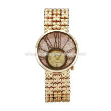Dernier design monté en or de genév quartz montres montre-bracelet en dames