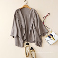Plus size cardigan jacket no buttons oversize cashmere cardigan with batwing sleeves cardigans